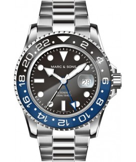 MARC & SONS GMT Series  Watch Automatic GMT ETA 2893-2 MSG-007-1S