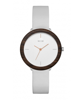 Reloj de madera MAM Originals Light Teak Grey