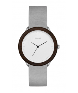 Reloj de madera MAM Originals STAINLESS Light Teak Graphite