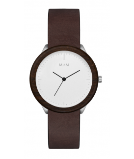 Reloj de madera MAM Originals STAINLESS Light Teak Cooper