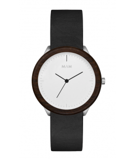 Reloj de madera MAM Originals STAINLESS Light Teak Black