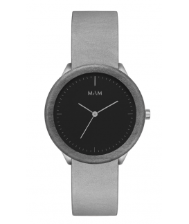 Reloj de madera MAM Originals STAINLESS Dark Maple Graphite