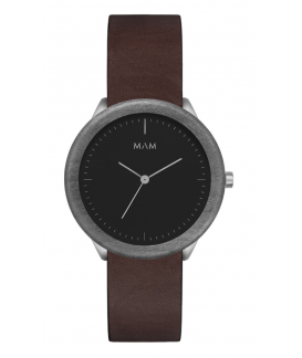 Reloj de madera MAM Originals STAINLESS Dark Maple Cooper