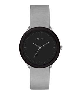 Reloj de madera MAM Originals STAINLESS Dark Ebony Graphite