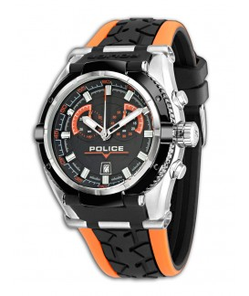 Reloj Police Raptor Black / Orange R1451198004