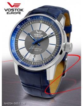 Reloj Vostok Europe GAZ-14 Limousine Tritium Piel 5651138