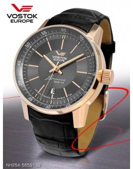 Reloj Vostok Europe GAZ-14 Limousine Tritium Piel 5659139