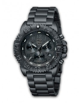 Reloj Luminox Navy SEAL Steel Chrono Black Out LX3182BO