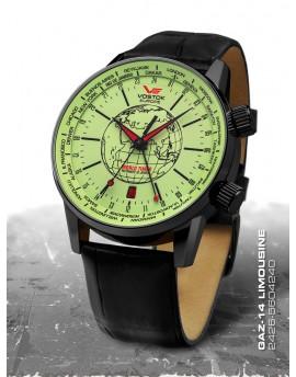 Reloj Vostok Europe GAZ-14 Limousine World Time Piel 5604240